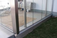 Konzept Glasschiebeanlage