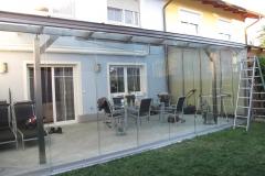 Sommergarten mit Glasschiebeanlage